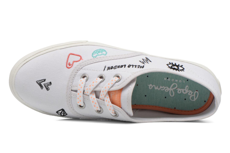 Baskets Pepe jeans Soho Draw Blanc vue gauche