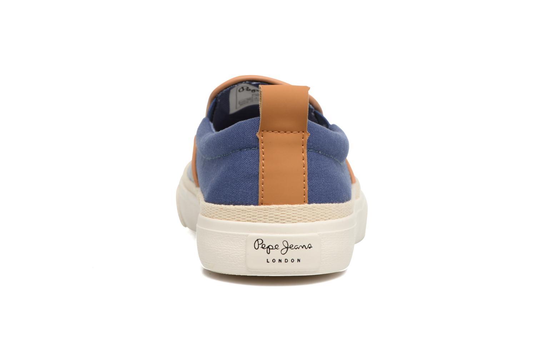 Baskets Pepe jeans Traveler Aloha Bleu vue droite