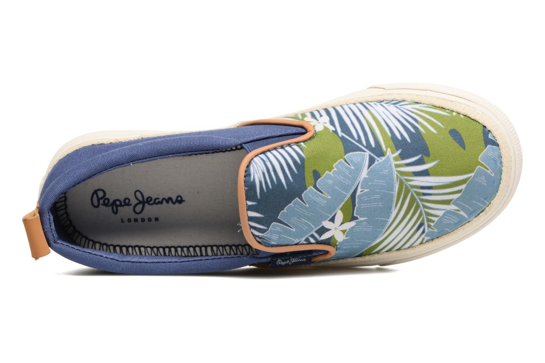 Baskets Pepe jeans Traveler Aloha Bleu vue gauche