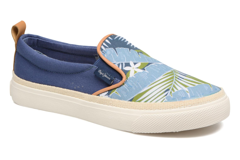 Baskets Pepe jeans Traveler Aloha Bleu vue détail/paire
