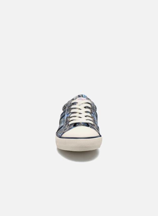 Baskets Pepe jeans Serthi Flowers Gris vue portées chaussures