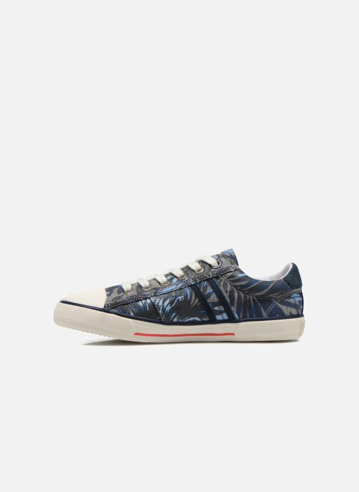 Baskets Pepe jeans Serthi Flowers Gris vue face