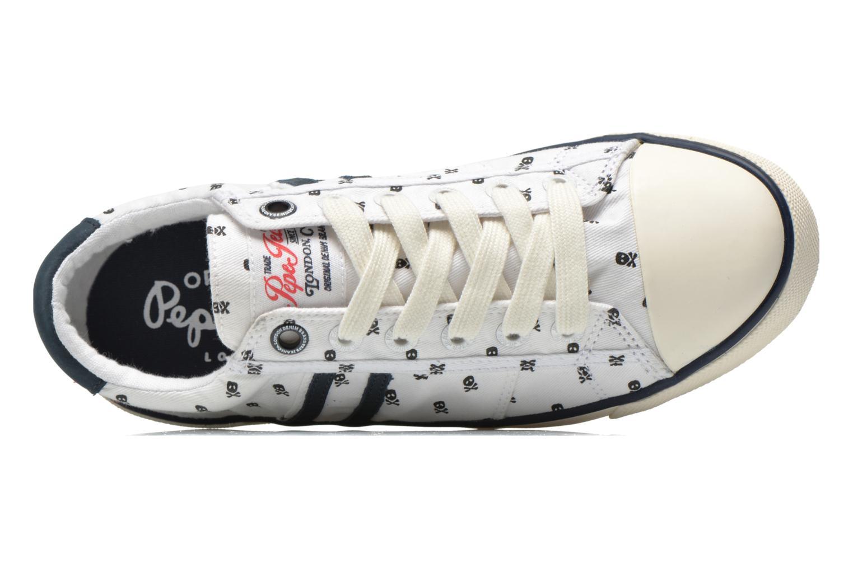 Baskets Pepe jeans Serthi Skulls Blanc vue gauche