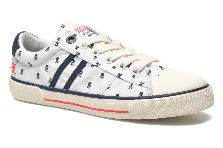 Baskets Pepe jeans Serthi Skulls Blanc vue détail/paire
