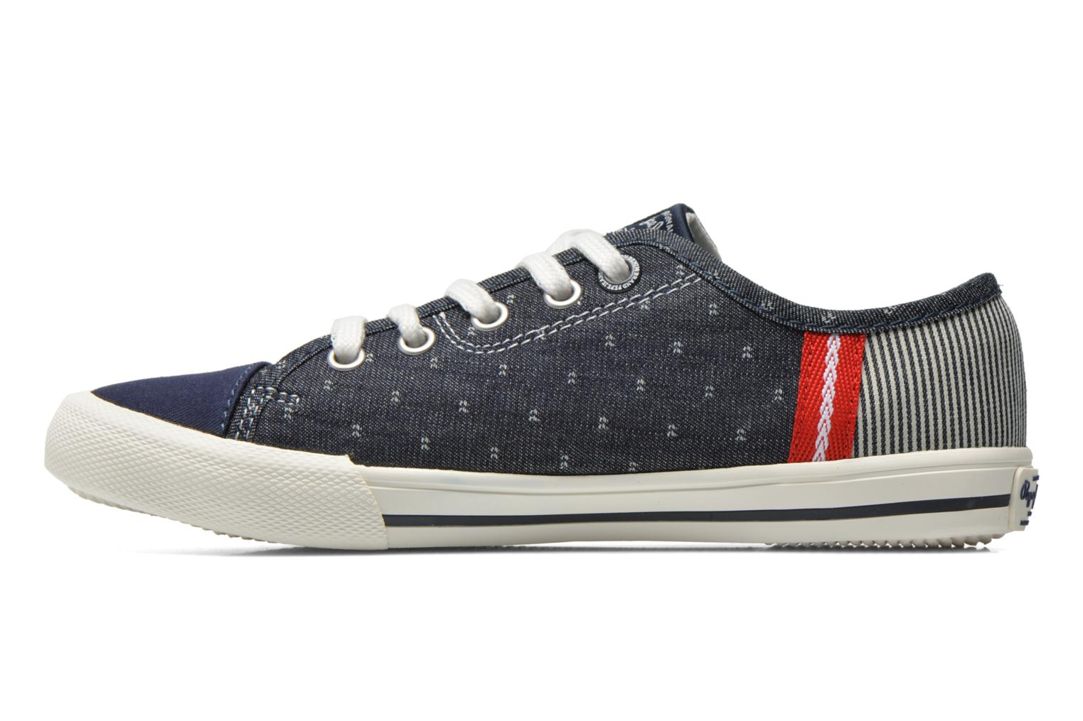 Baskets Pepe jeans Britt Fabric K Bleu vue face