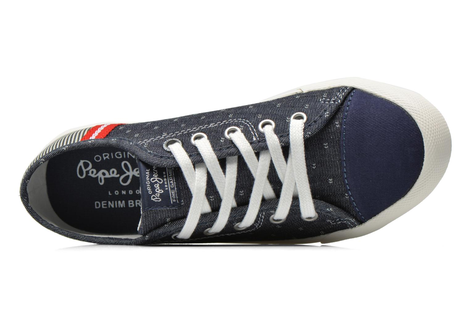 Trainers Pepe jeans Britt Fabric K Blue view from the left