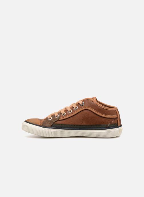 Sneakers Pepe jeans Industry Basic Boy Marrone immagine frontale