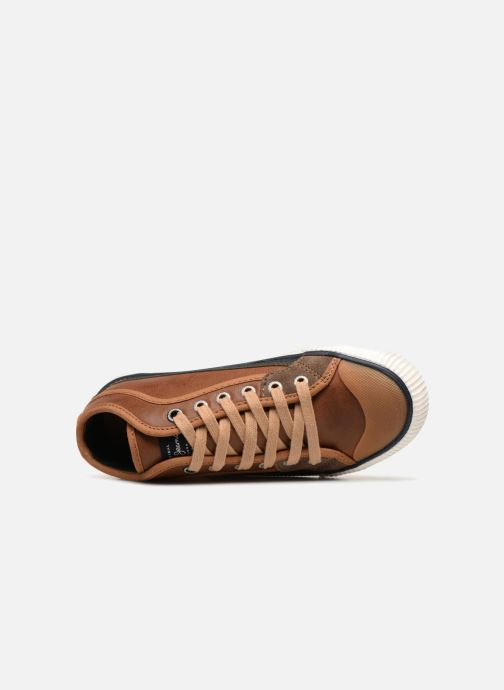 Sneakers Pepe jeans Industry Basic Boy Marrone immagine sinistra