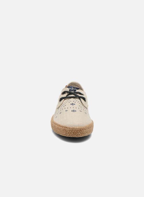 Espadrilles Pepe jeans &Bahati Abat Junior Beige vue portées chaussures