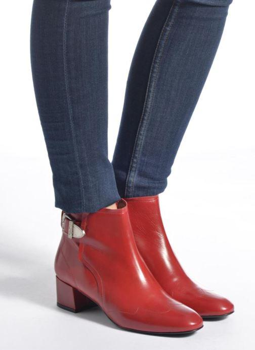 Bottines et boots Made by SARENZA UrbAfrican Boots #2 Rouge vue bas / vue portée sac