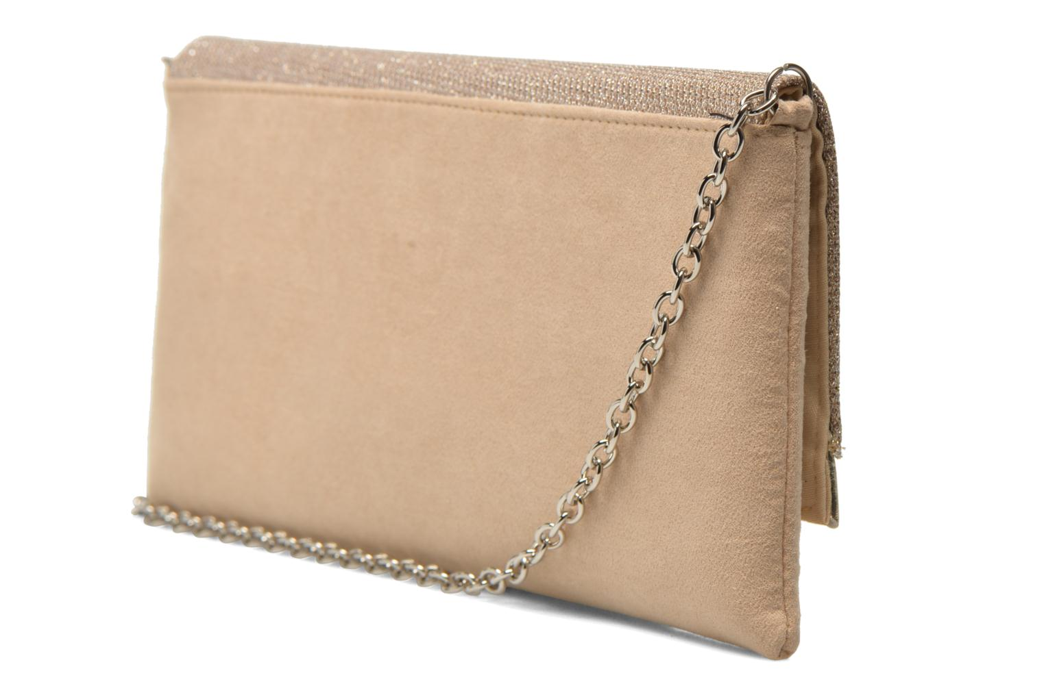 Clutch bags Menbur Ampere Beige view from the right