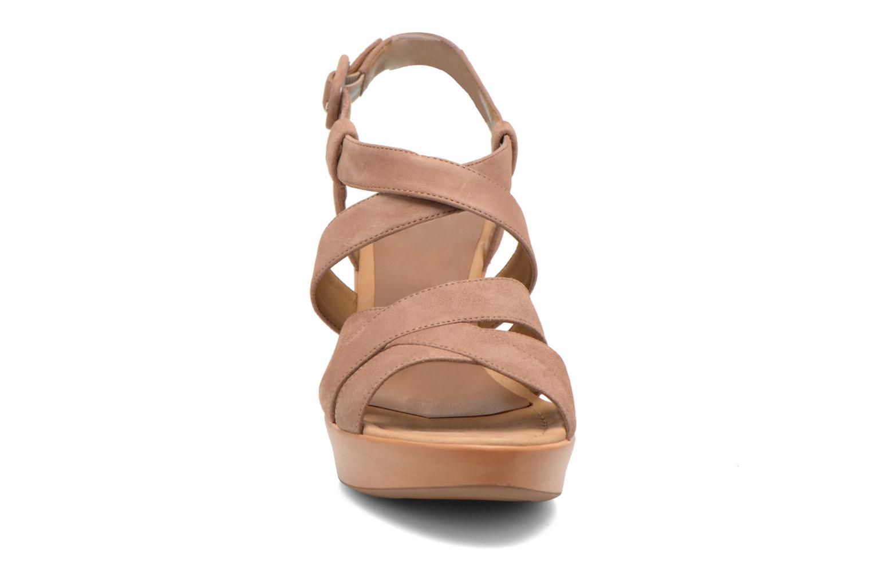 Sandales et nu-pieds Unisa Rodri Marron vue portées chaussures
