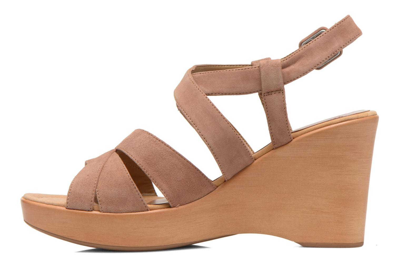 Sandales et nu-pieds Unisa Rodri Marron vue face