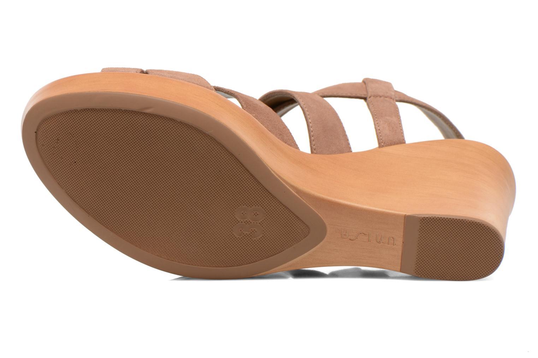 Sandales et nu-pieds Unisa Rodri Marron vue haut