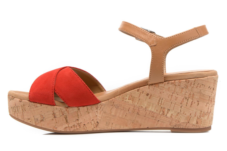 Sandales et nu-pieds Unisa Kiber Rouge vue face