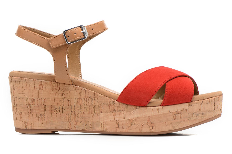 Sandales et nu-pieds Unisa Kiber Rouge vue derrière