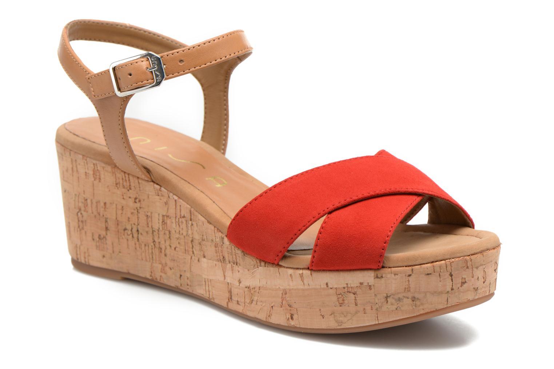 Sandales et nu-pieds Unisa Kiber Rouge vue détail/paire