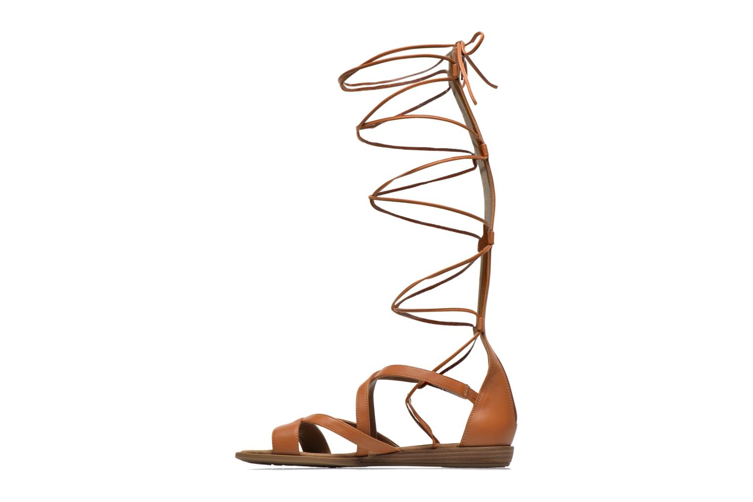 Sandals Unisa Anda Brown front view