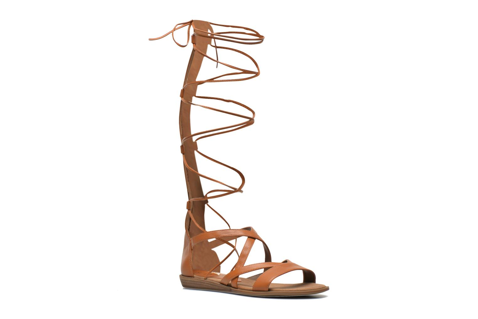 Sandals Unisa Anda Brown detailed view/ Pair view