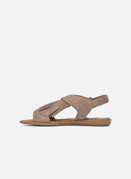 Sandales et nu-pieds Unisa Amolo Marron vue face