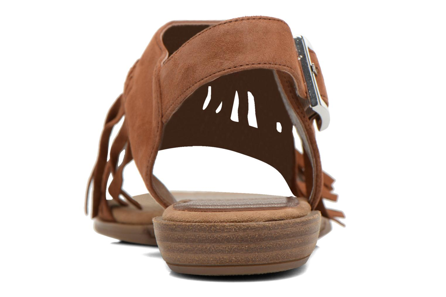 Sandals Unisa Amolo Brown view from the right