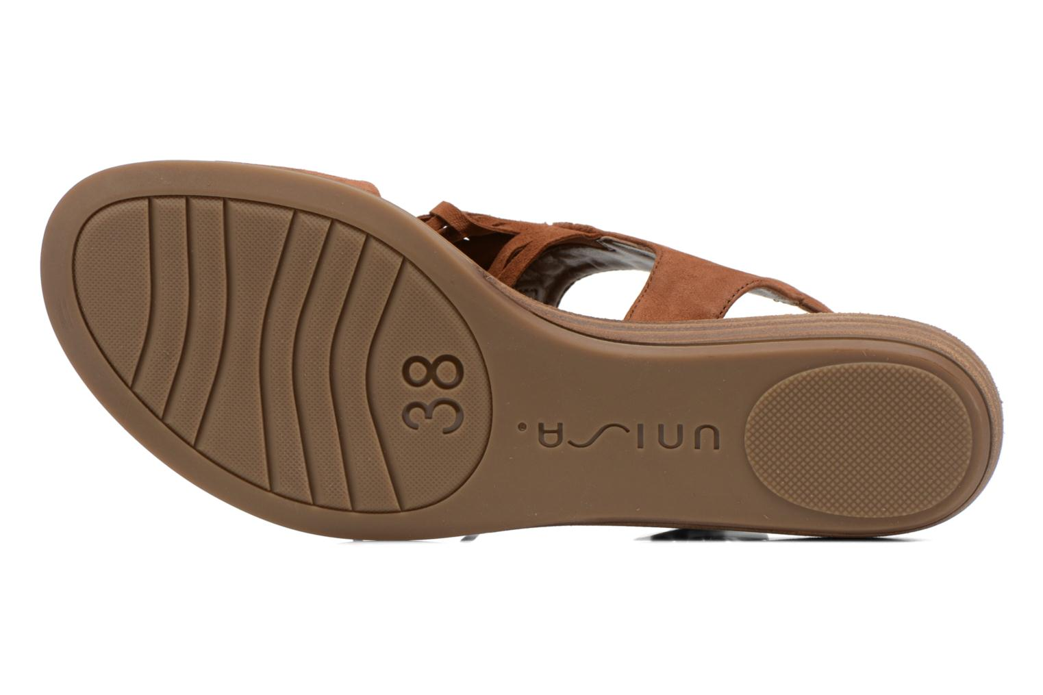 Sandals Unisa Amolo Brown view from above