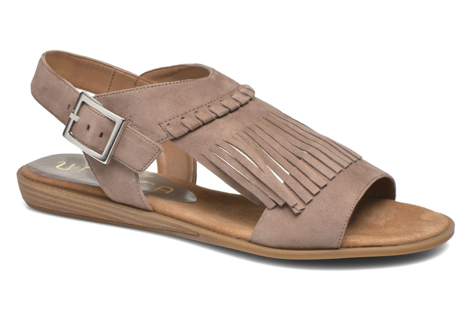 Sandals Unisa Amolo Brown detailed view/ Pair view