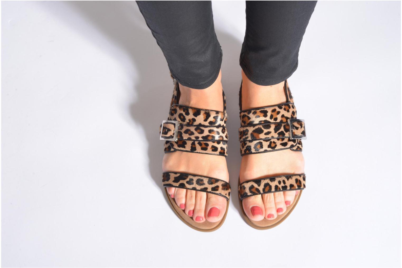 Sandales et nu-pieds Unisa Adore Marron vue bas / vue portée sac