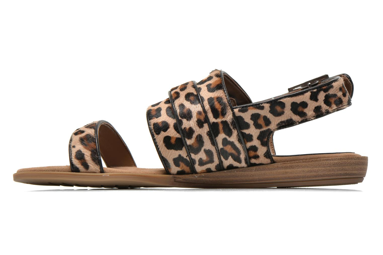 Sandales et nu-pieds Unisa Adore Marron vue face