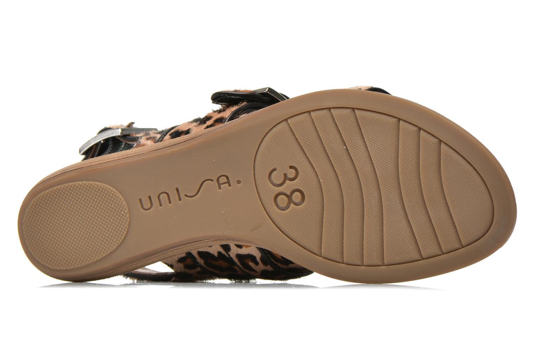 Sandales et nu-pieds Unisa Adore Marron vue haut