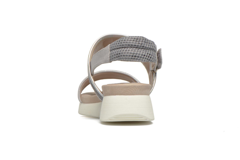 Sandali e scarpe aperte Unisa Barce Argento immagine destra