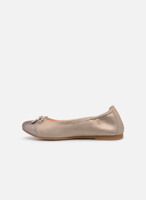 Ballet pumps Unisa Dino Bronze and Gold front view