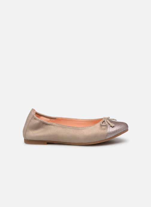 Ballet pumps Unisa Dino Bronze and Gold back view