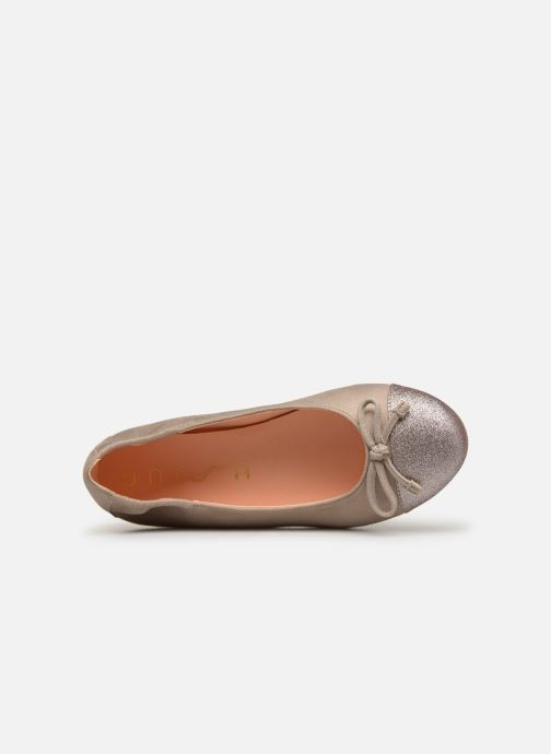 Ballet pumps Unisa Dino Bronze and Gold view from the left