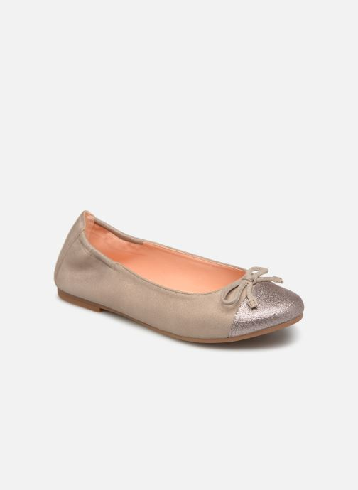 Ballet pumps Unisa Dino Bronze and Gold detailed view/ Pair view