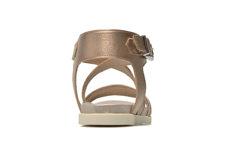 Sandaler Unisa Pacy Guld og bronze Se fra højre