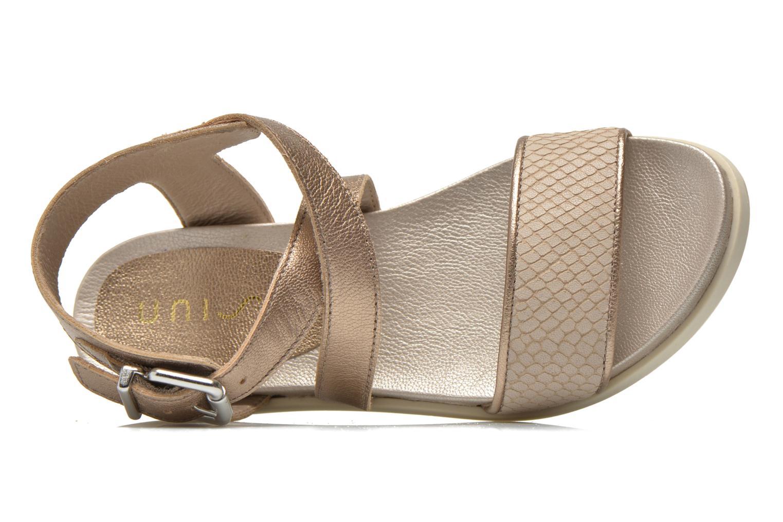 Sandaler Unisa Pacy Guld og bronze se fra venstre