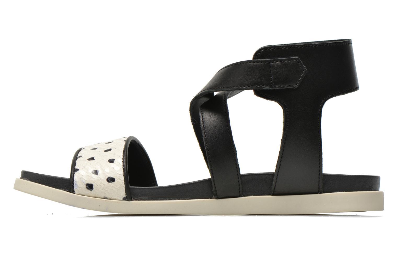 Sandales et nu-pieds Unisa Pacy Noir vue face