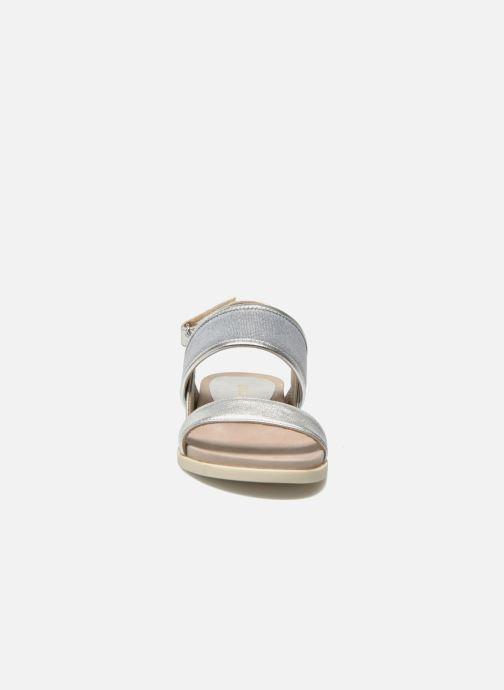 Sandalen Unisa Paves silber schuhe getragen