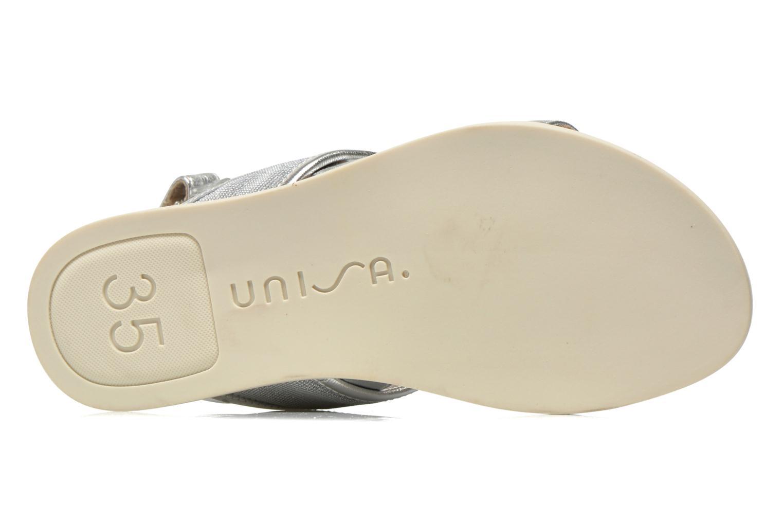 Sandales et nu-pieds Unisa Paves Argent vue haut