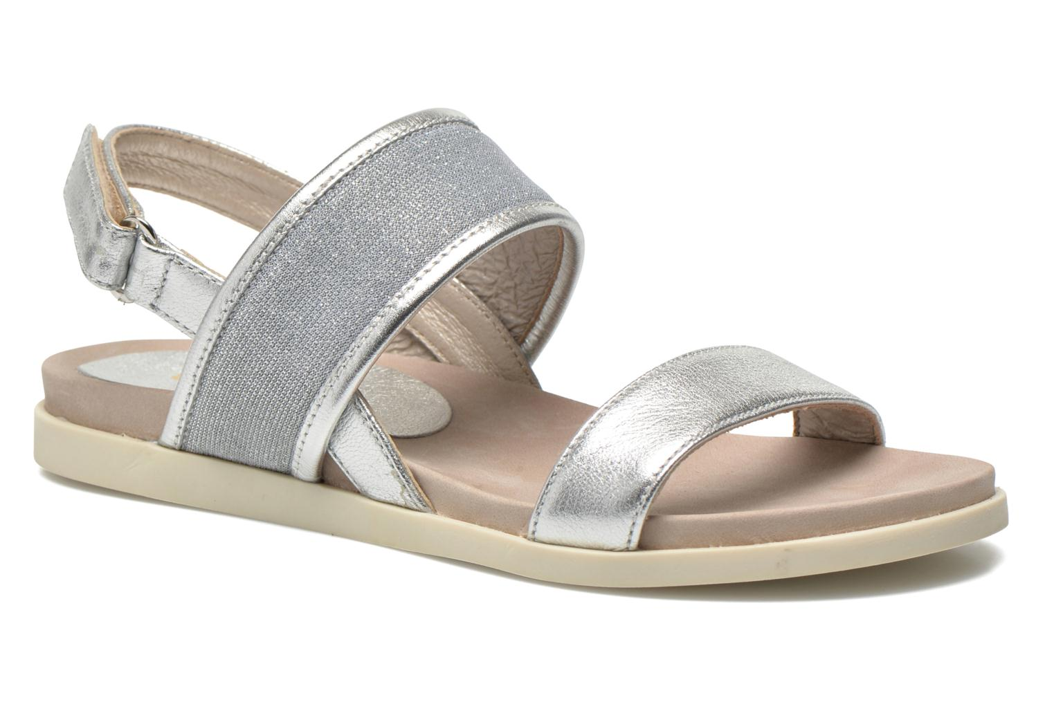 Sandals Unisa Paves Silver detailed view/ Pair view