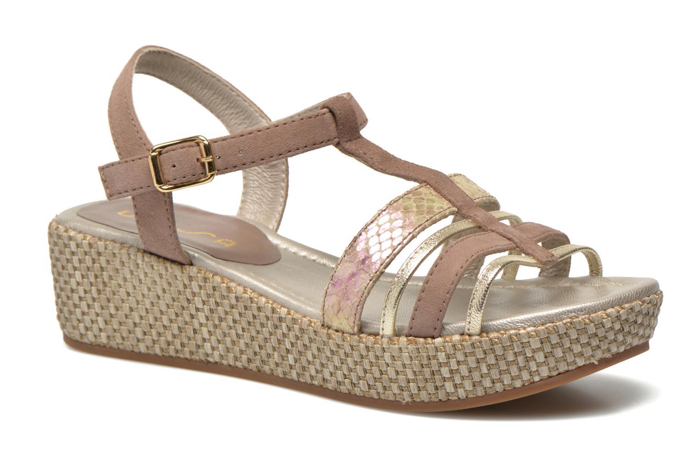 Sandaler Unisa Tolito Brun detaljeret billede af skoene