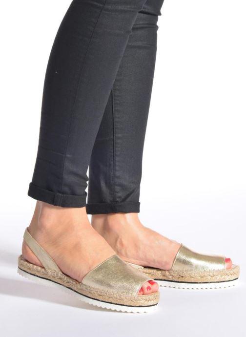 Sandales et nu-pieds Anaki Tequila Bleu vue bas / vue portée sac