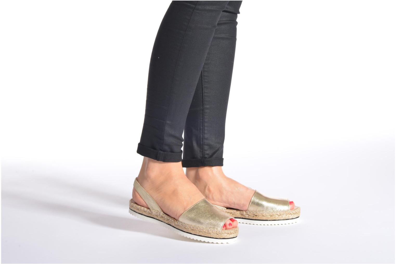 Sandalen Anaki Tequila blau ansicht von unten / tasche getragen