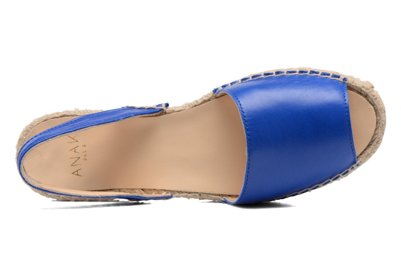 Sandalen Anaki Tequila blau ansicht von links