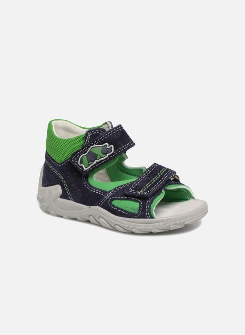 Sandales et nu-pieds Superfit Flow Bleu vue détail/paire