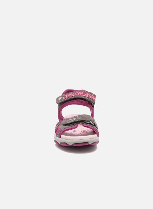 Sandales et nu-pieds Superfit Nelly Gris vue portées chaussures