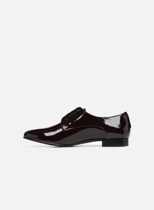 Chaussures à lacets Georgia Rose Alilikou Bordeaux vue face