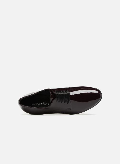 Zapatos con cordones Georgia Rose Alilikou Vino vista lateral izquierda