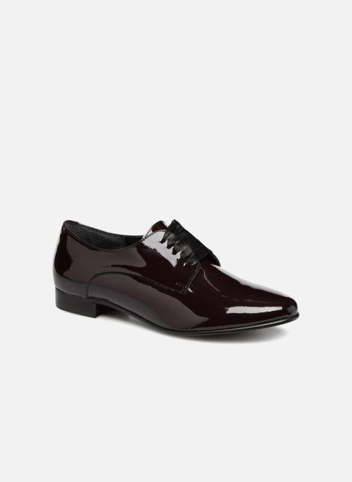 Chaussures à lacets Georgia Rose Alilikou Bordeaux vue détail/paire